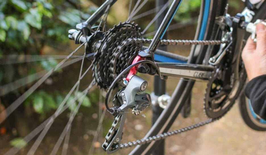 How To Put Bike Chain Back On The Derailleur