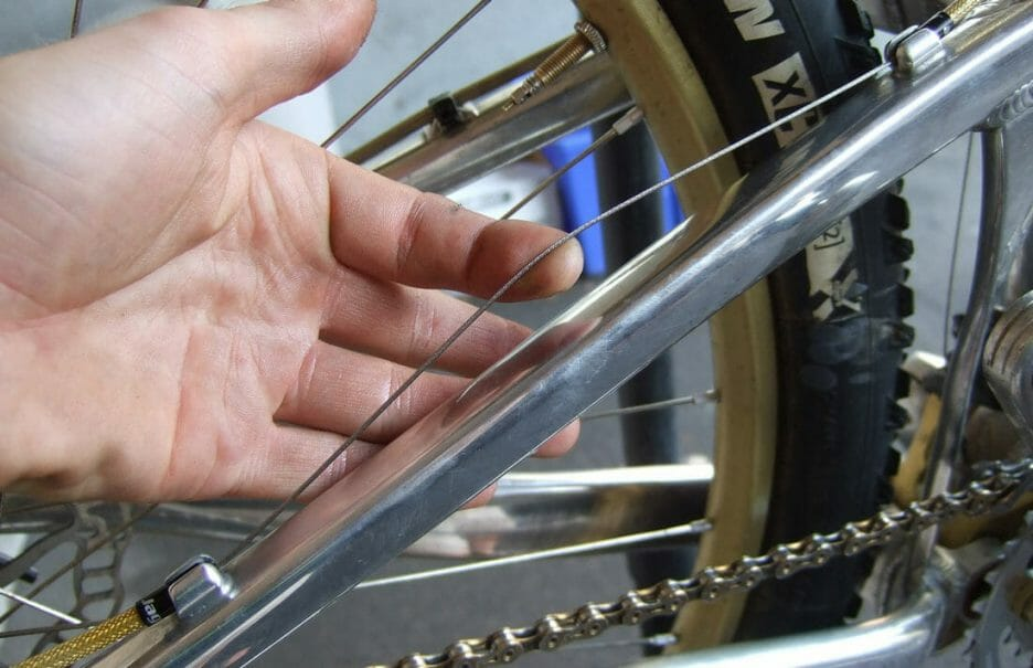 Take Up Tension In The Cable And Tighten The Pinch Bolt
