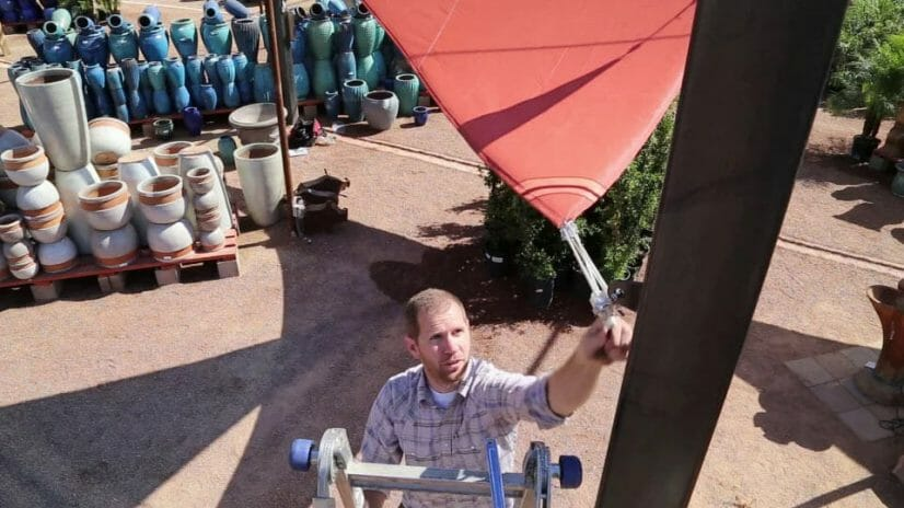 How to install a shade sail